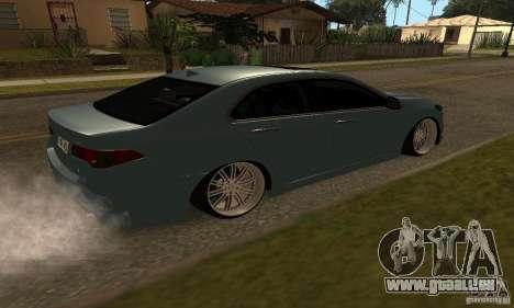 Acura TSX 2010 pour GTA San Andreas laissé vue