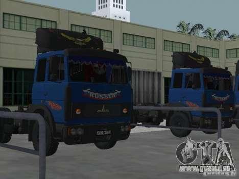 MAZ 5432 YAMZ-238 b 4 x 2 pour GTA San Andreas vue intérieure