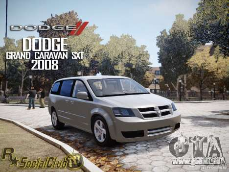 Dodge Grand Caravan SXT 2008 für GTA 4