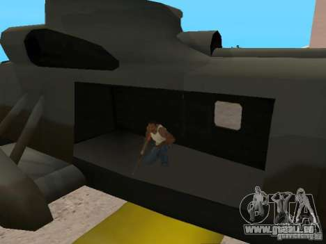 Enterable Leviathan für GTA San Andreas Rückansicht
