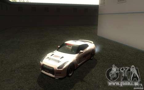 Nissan GTR R35 Spec-V 2010 pour GTA San Andreas vue intérieure