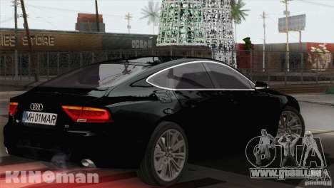 Audi A7 Sportback 2010 für GTA San Andreas linke Ansicht