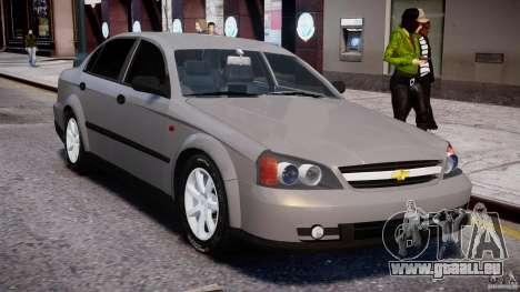 Chevrolet Evanda pour GTA 4 vue de dessus
