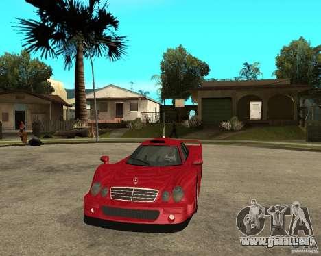 Mercedes-Benz CLK GTR road version pour GTA San Andreas vue arrière