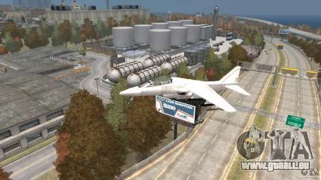 Liberty City Air Force Jet für GTA 4 rechte Ansicht