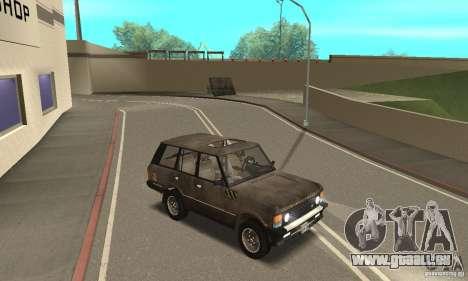 Range Rover County Classic 1990 für GTA San Andreas Unteransicht