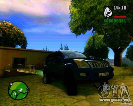Toyota Land Cruiser Prado 120 für GTA San Andreas Rückansicht