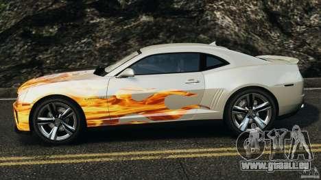 Chevrolet Camaro ZL1 2012 v1.0 Flames für GTA 4 linke Ansicht