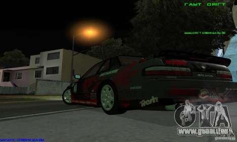 Nissan Silvia S13 Tunable für GTA San Andreas Innenansicht