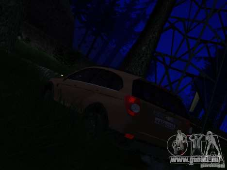 Chevrolet Captiva pour GTA San Andreas sur la vue arrière gauche