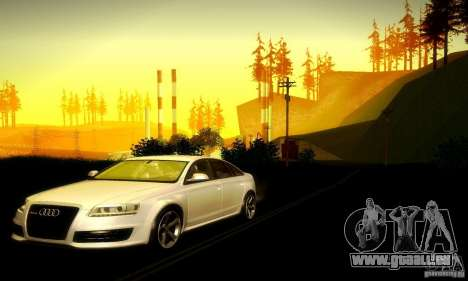 Audi RS6 TT für GTA San Andreas Rückansicht