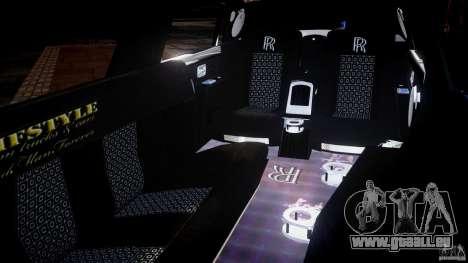Rolls Royce Phantom Sapphire Limousine Disco pour GTA 4 est un côté