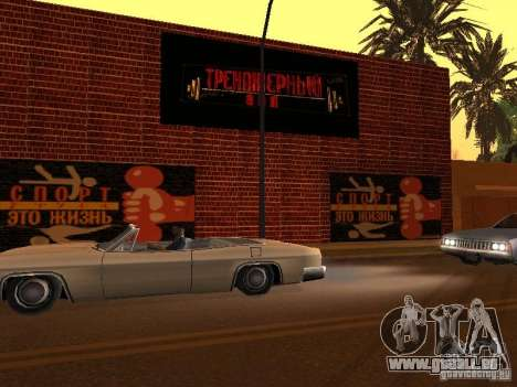 Nouvelle salle de sport pour GTA San Andreas troisième écran