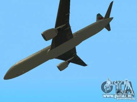 Boeing 787 Dreamliner Air Canada pour GTA San Andreas vue intérieure