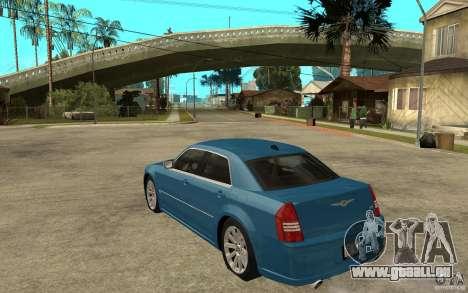 Chrysler 300C 6.1 SRT-8 2007 für GTA San Andreas zurück linke Ansicht