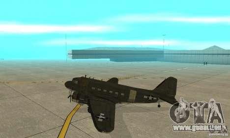 C-47 Skytrain pour GTA San Andreas sur la vue arrière gauche