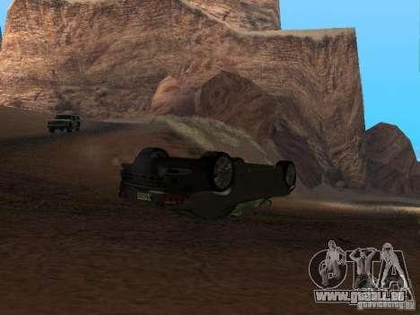 Voitures renversées ne brûlent pas pour GTA San Andreas deuxième écran