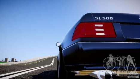 Mercedes SL 500 AMG 1995 pour GTA 4 est une vue de l'intérieur