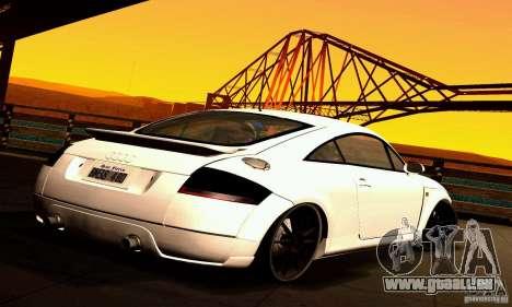 Audi TT Light Tuning pour GTA San Andreas sur la vue arrière gauche