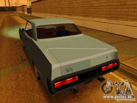 Plymouth Fury Sport 1970 für GTA San Andreas zurück linke Ansicht
