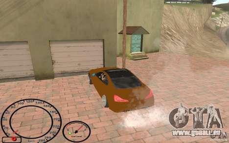 Infiniti G37 Vossen pour GTA San Andreas vue arrière