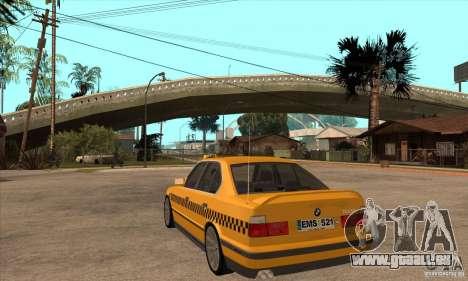 BMW E34 535i Taxi für GTA San Andreas zurück linke Ansicht