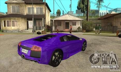 Lamborghini Murcielago LP640 pour GTA San Andreas vue arrière