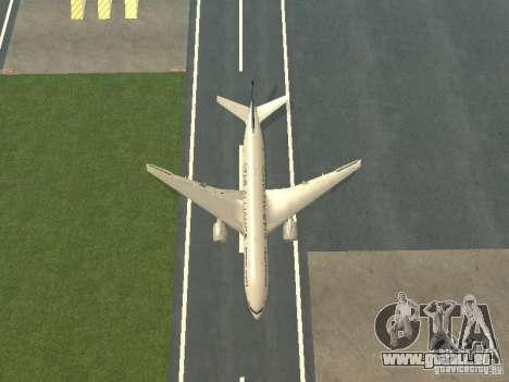 Boeing 777-200 Singapore Airlines pour GTA San Andreas vue de côté