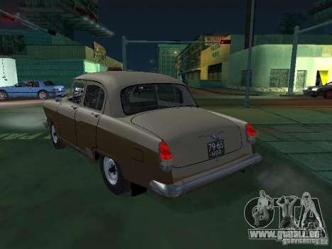 GAZ M21T Taxi pour GTA San Andreas sur la vue arrière gauche