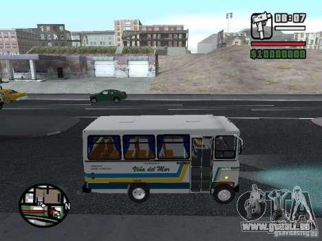 Cuatro Ases M.Benz LO608D pour GTA San Andreas vue intérieure