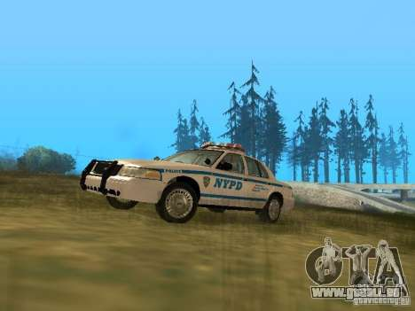 Ford Crown Victoria NYPD Police pour GTA San Andreas