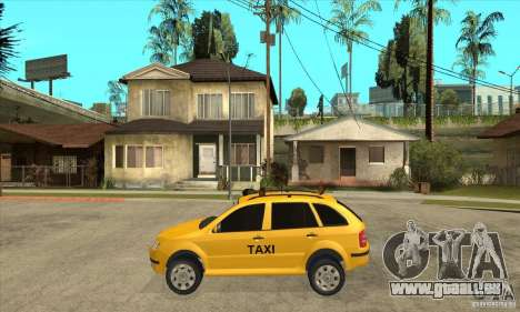 Skoda Fabia Combi Taxi pour GTA San Andreas laissé vue