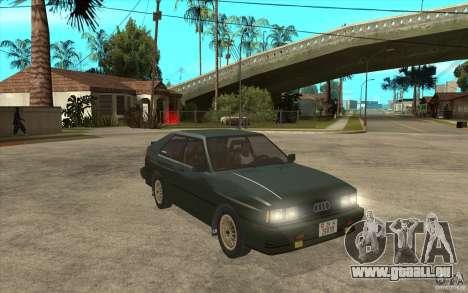 Audi Quattro für GTA San Andreas Rückansicht
