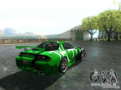 Mazda RX7 für GTA San Andreas zurück linke Ansicht
