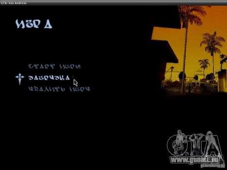 Die Schriftart der NFS-MW-v2 für GTA San Andreas zweiten Screenshot