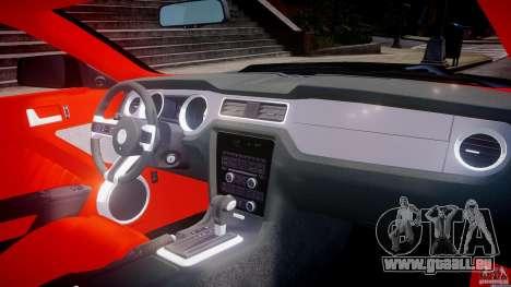 Ford Mustang V6 2010 Police v1.0 pour GTA 4 vue de dessus