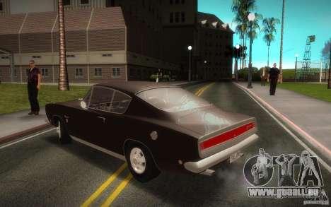 Plymouth Barracuda Formula S pour GTA San Andreas laissé vue
