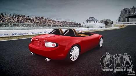 Mazda Miata MX5 Superlight 2009 für GTA 4 Seitenansicht