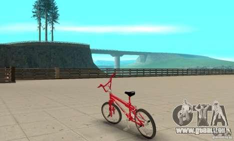 Noxon Jump Bmx pour GTA San Andreas sur la vue arrière gauche