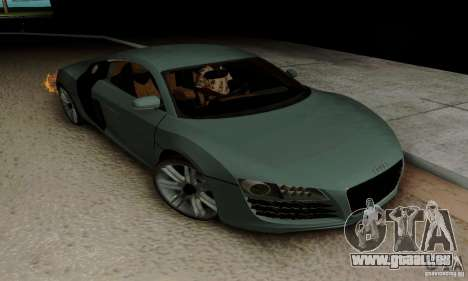 Audi R8 LeMans pour GTA San Andreas vue de côté