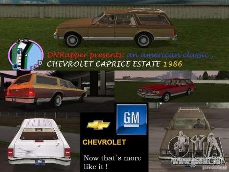 Chevrolet Caprice Estate 1986 pour GTA Vice City