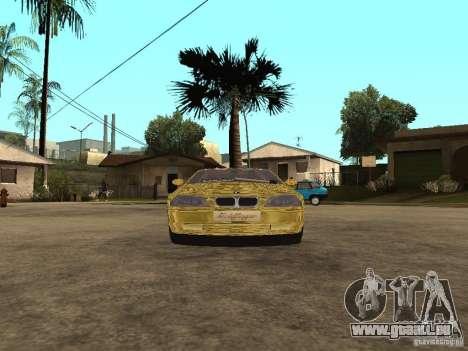 BMW M3 Goldfinger pour GTA San Andreas sur la vue arrière gauche