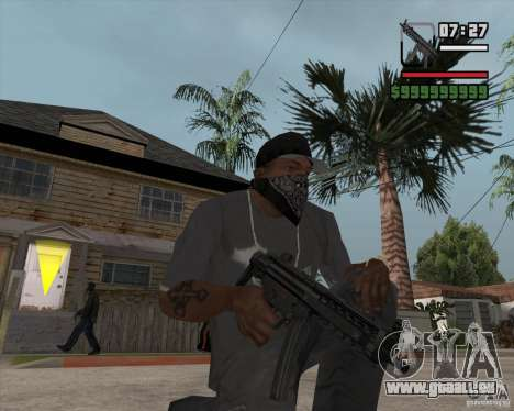 New MP5 (Submachine gun) pour GTA San Andreas