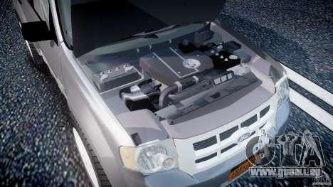Ford Escape 2011 Hybrid Civilian Version v1.0 pour GTA 4 Vue arrière