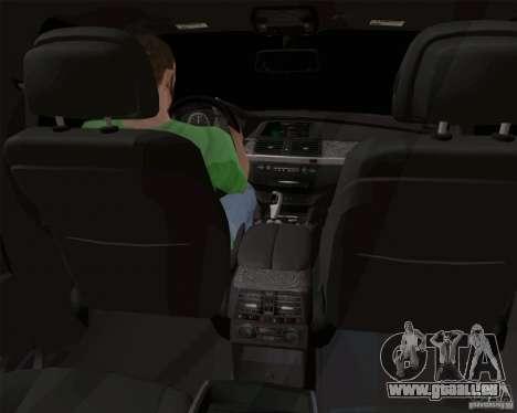 BMW X6 pour GTA San Andreas vue intérieure