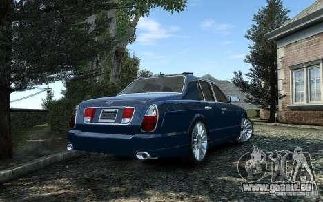 Bentley Arnage T für GTA 4 Rückansicht