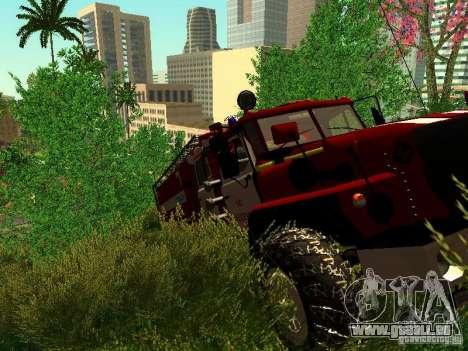 Ural 5557-40 Feuer für GTA San Andreas Seitenansicht