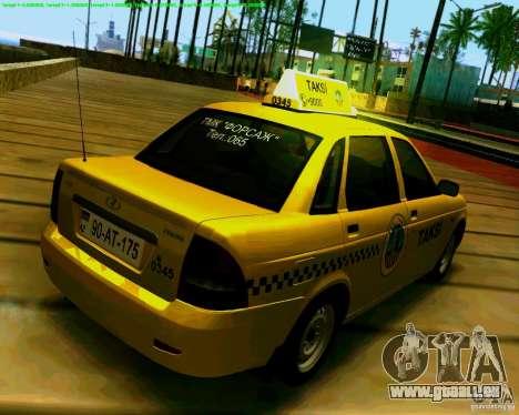 2170 LADA Priora Baki taksi pour GTA San Andreas vue de droite