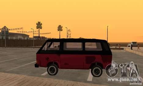 Volkswagen T3 Rusty pour GTA San Andreas laissé vue