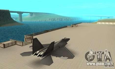 F-22 Black pour GTA San Andreas laissé vue